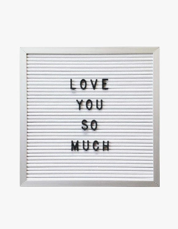 "Three Potato Four 10"" x 10"" Letter Board - White 
