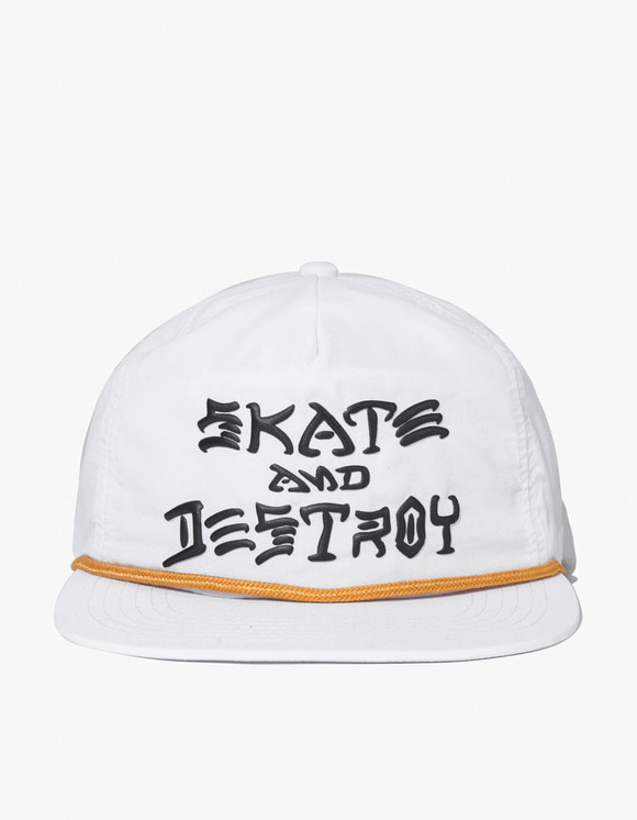 Thrasher Skate & Destroy Puff Ink Snapback - White | HEIGHTS. | 하이츠 온라인 스토어