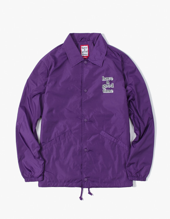 have a good time 3D Logo Coach Jacket - Purple | HEIGHTS. | 하이츠 온라인 스토어