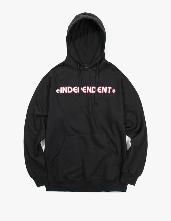 Independent Bar Cross Pullover Hoodie - Black | HEIGHTS. | 하이츠 온라인 스토어