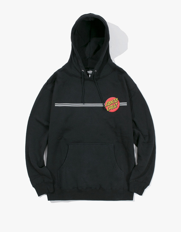 Santa Cruz Skateboards Classic Dot Mill Made Santa Cruz Pullover Hoodie - Black | HEIGHTS. | 하이츠 온라인 스토어