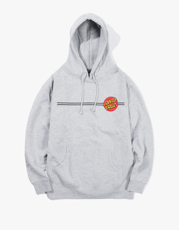 Santa Cruz Skateboards Classic Dot Mill Made Santa Cruz Pullover Hoodie - Heather Grey | HEIGHTS. | 하이츠 온라인 스토어