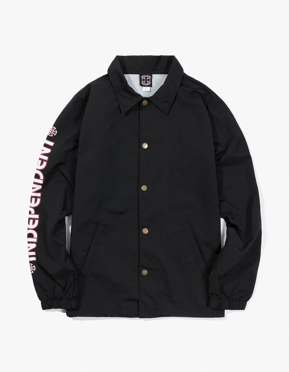 Independent Bar Cross Coach Windbreaker - Black | HEIGHTS. | 하이츠 온라인 스토어