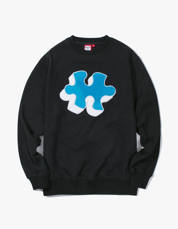 have a good time Puzzle Crewneck - Black | HEIGHTS. | 하이츠 온라인 스토어