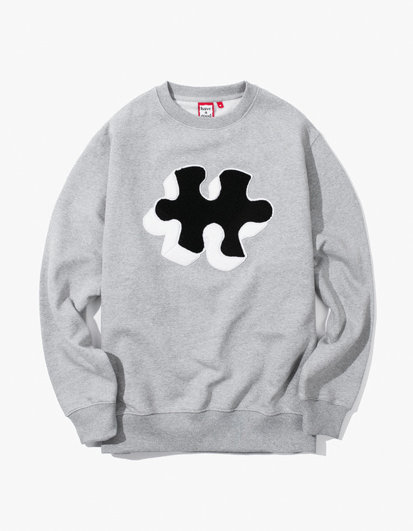 have a good time Puzzle Crewneck - Heather Grey | HEIGHTS. | 하이츠 온라인 스토어