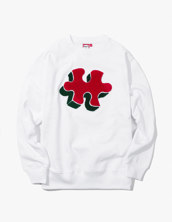 have a good time Puzzle Crewneck - White | HEIGHTS. | 하이츠 온라인 스토어