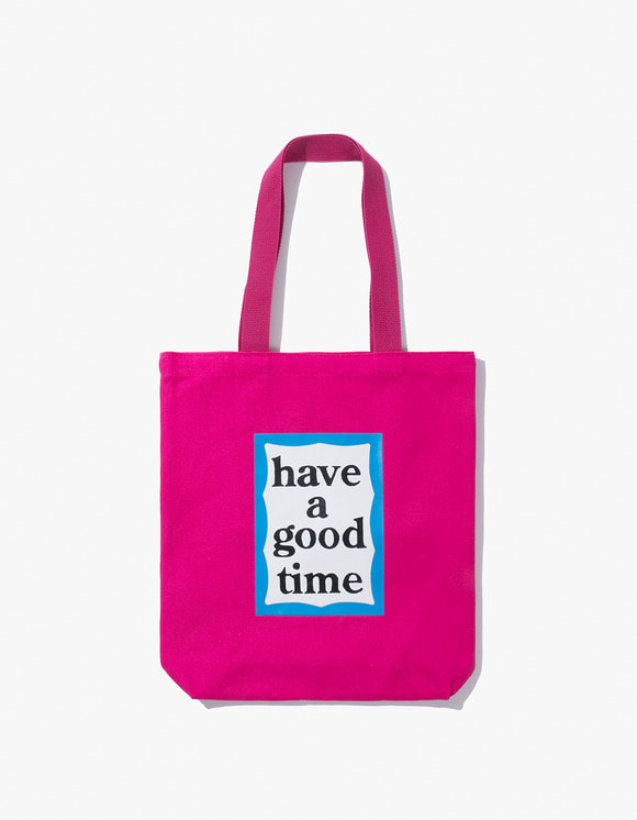 have a good time Blue Frame Tote Bag - Deep Pink | HEIGHTS. | 하이츠 온라인 스토어
