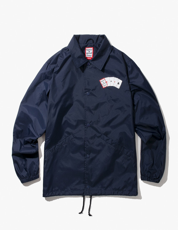 have a good time Playing Card Coach Jacket - Navy | HEIGHTS. | 하이츠 온라인 스토어