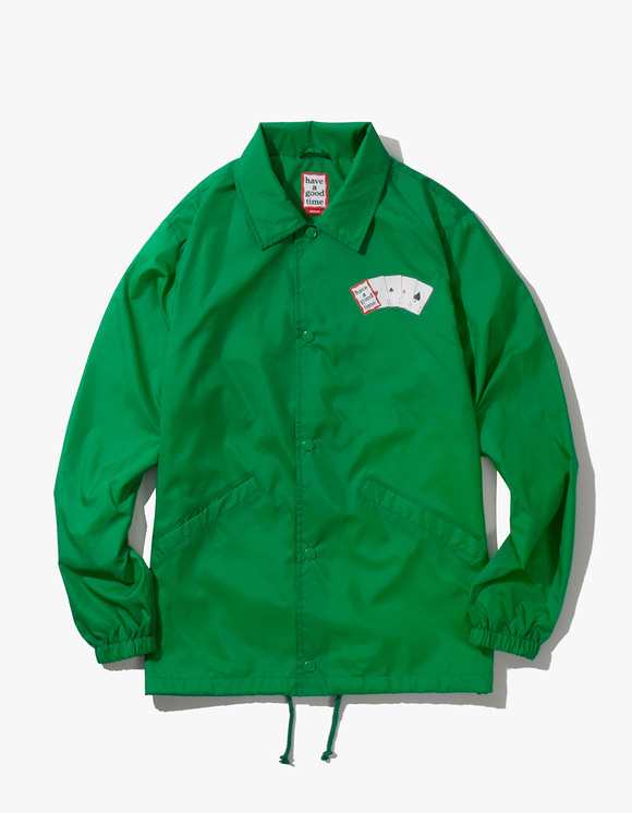 have a good time Playing Card Coach Jacket - Green | HEIGHTS. | 하이츠 온라인 스토어