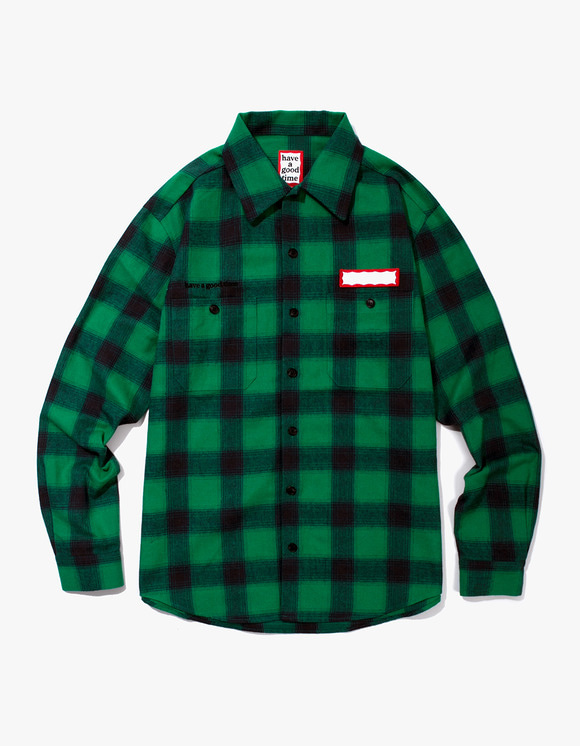 have a good time Shadow Flannel Shirts - Green | HEIGHTS. | 하이츠 온라인 스토어