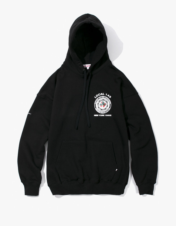 Richardson Strawberry Teamster Hoodie - Black | HEIGHTS. | 하이츠 온라인 스토어