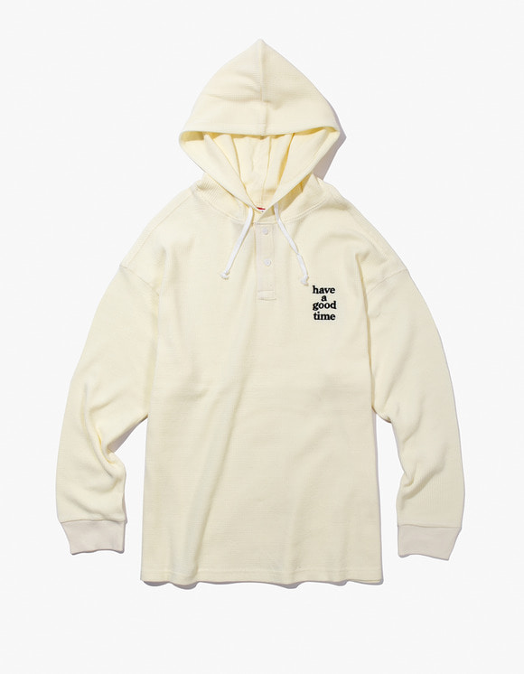 have a good time Thermal Pullover Hoodie - Cream | HEIGHTS. | 하이츠 온라인 스토어