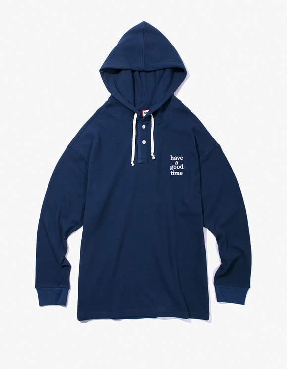 have a good time Thermal Pullover Hoodie - Navy | HEIGHTS. | 하이츠 온라인 스토어