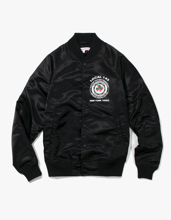 Richardson Strawberry Teamster Nylon Bomber - Black | HEIGHTS. | 하이츠 온라인 스토어
