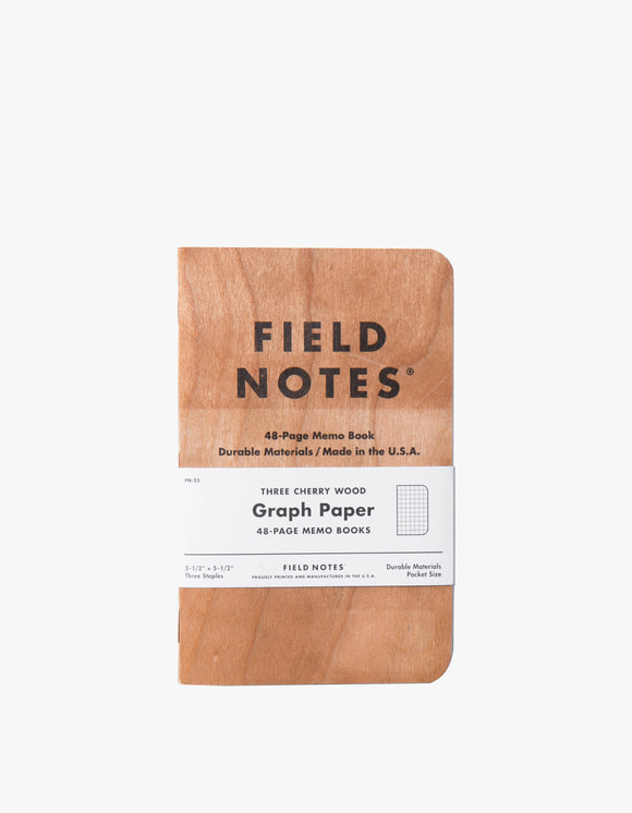 Field Notes Three Cherry Wood - Graph Paper | HEIGHTS. | 하이츠 온라인 스토어