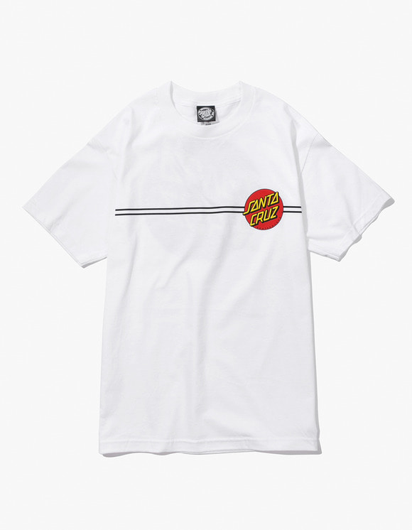 Santa Cruz Skateboards Classic Dot S/S Tee - White | HEIGHTS. | 하이츠 온라인 스토어