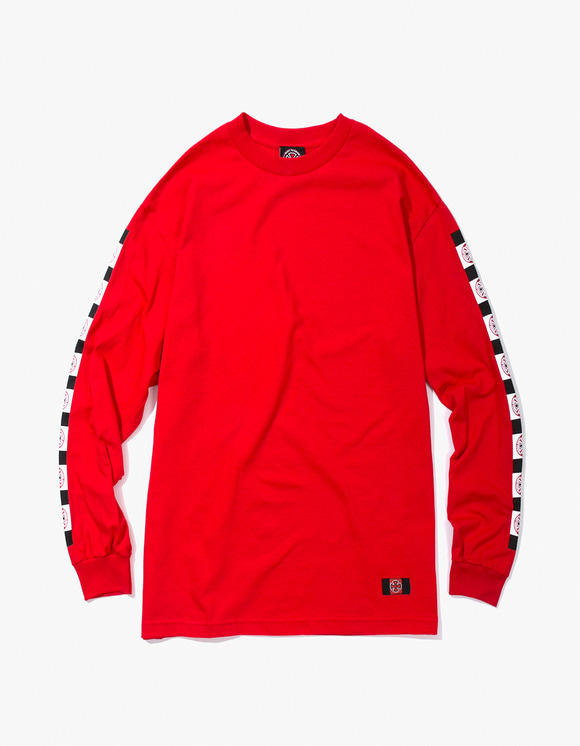 Independent Banner L/S Tee - Red | HEIGHTS. | 하이츠 온라인 스토어