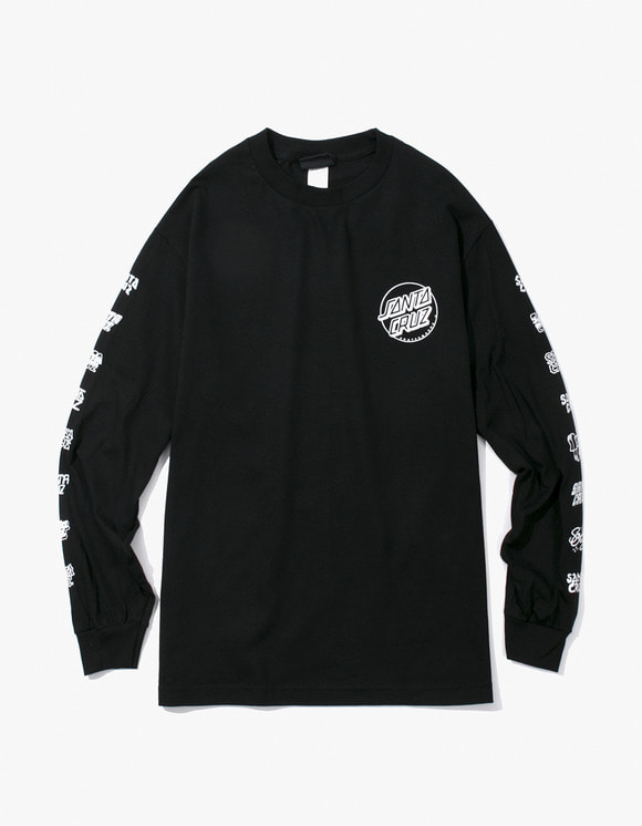 Santa Cruz Skateboards Multi Cruz L/S Tee - Black | HEIGHTS. | 하이츠 온라인 스토어