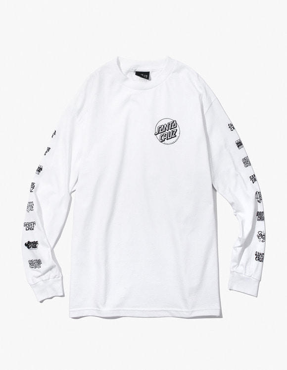 Santa Cruz Skateboards Multi Cruz L/S Tee - White | HEIGHTS. | 하이츠 온라인 스토어