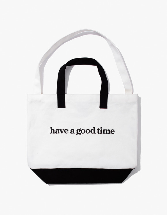 have a good time Side Logo 2-Way Tote Bag - Black | HEIGHTS. | 하이츠 온라인 스토어