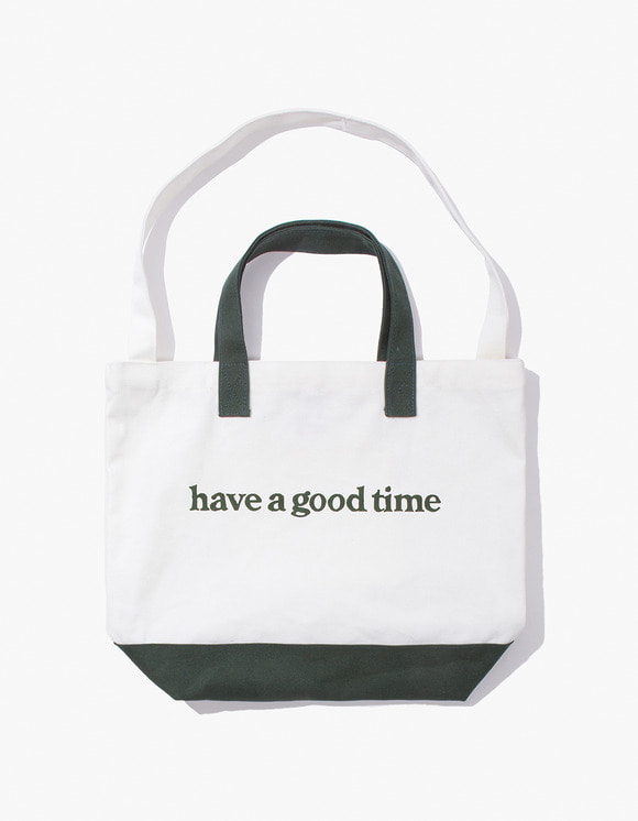 have a good time Side Logo 2-Way Tote Bag - Dark Green | HEIGHTS. | 하이츠 온라인 스토어