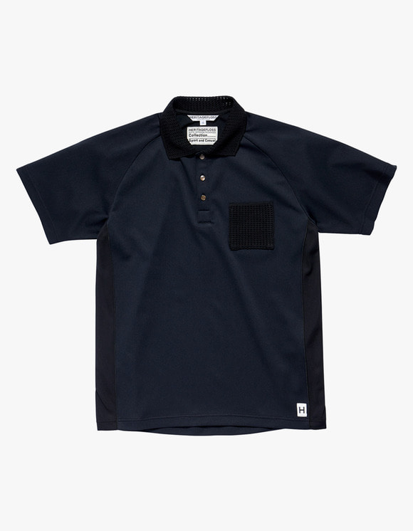 Heritage Floss HFC Cricket Polo Shirts - Black | HEIGHTS. | 하이츠 온라인 스토어