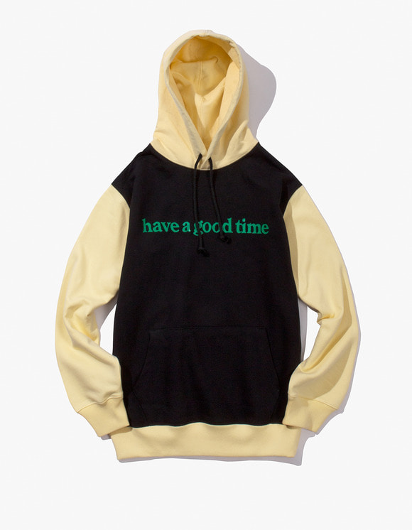 have a good time Block Pullover Hoodie - Black | HEIGHTS. | 하이츠 온라인 스토어