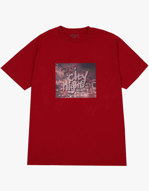 AIZ Skate City Night 2 S/S Tee - Dark Red | HEIGHTS. | 하이츠 온라인 스토어