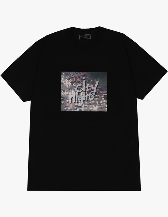 AIZ Skate City Night 2 S/S Tee - Black | HEIGHTS. | 하이츠 온라인 스토어