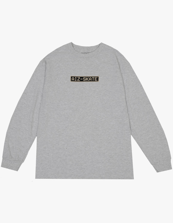 AIZ Skate Box Logo L/S Tee - Ash | HEIGHTS. | 하이츠 온라인 스토어
