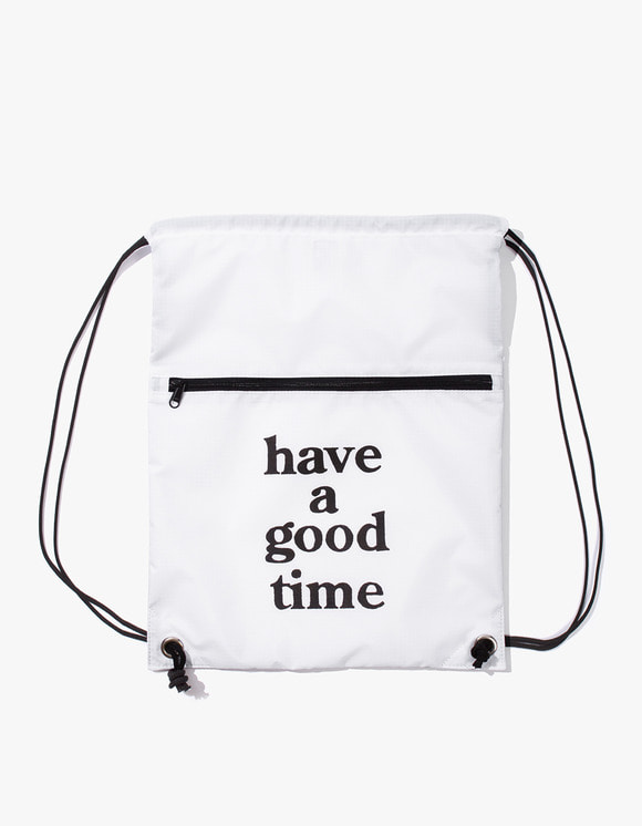 have a good time Logo Knapsack - White | HEIGHTS. | 하이츠 온라인 스토어