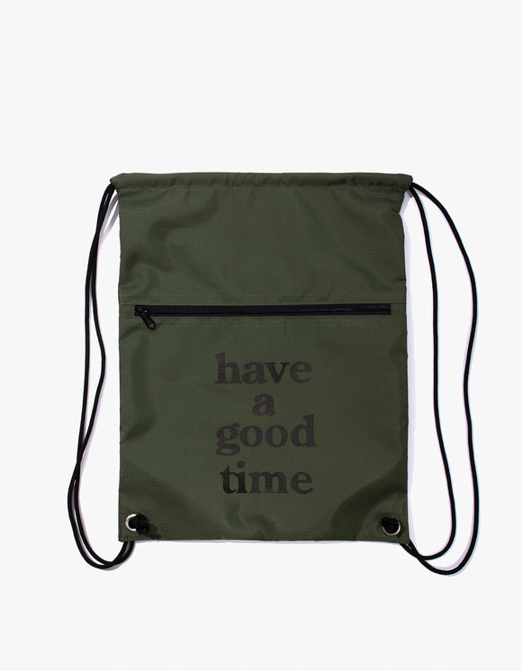 have a good time Logo Knapsack - Olive | HEIGHTS. | 하이츠 온라인 스토어