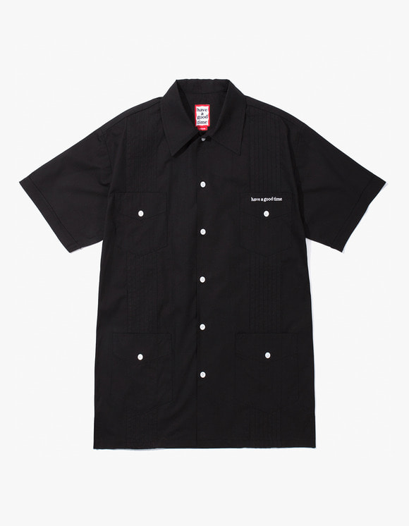 have a good time Cuban S/S Shirt - Black | HEIGHTS. | 하이츠 온라인 스토어