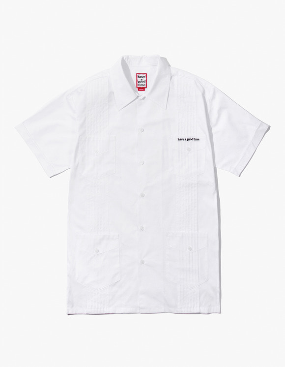 have a good time Cuban S/S Shirt - White | HEIGHTS. | 하이츠 온라인 스토어