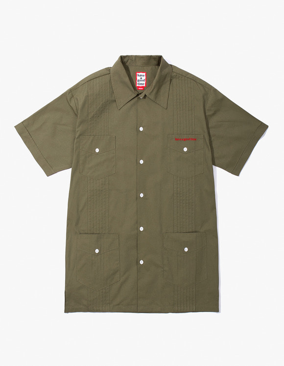 have a good time Cuban S/S Shirt - Olive | HEIGHTS. | 하이츠 온라인 스토어