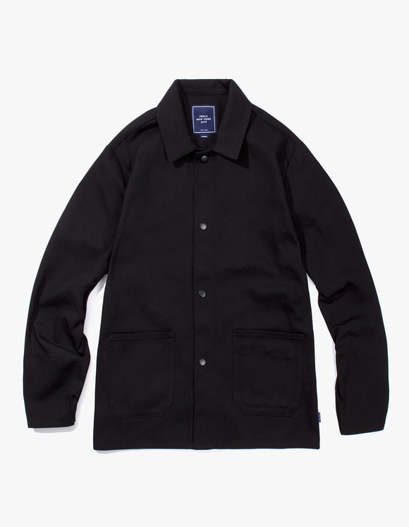 IZOLA NYC Cotton Twill Shop Jacket - Black | HEIGHTS. | 하이츠 온라인 스토어
