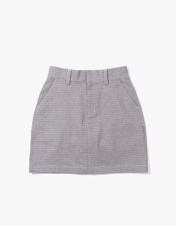 IZOLA NYC Check Miniskirt - Blue | HEIGHTS. | 하이츠 온라인 스토어