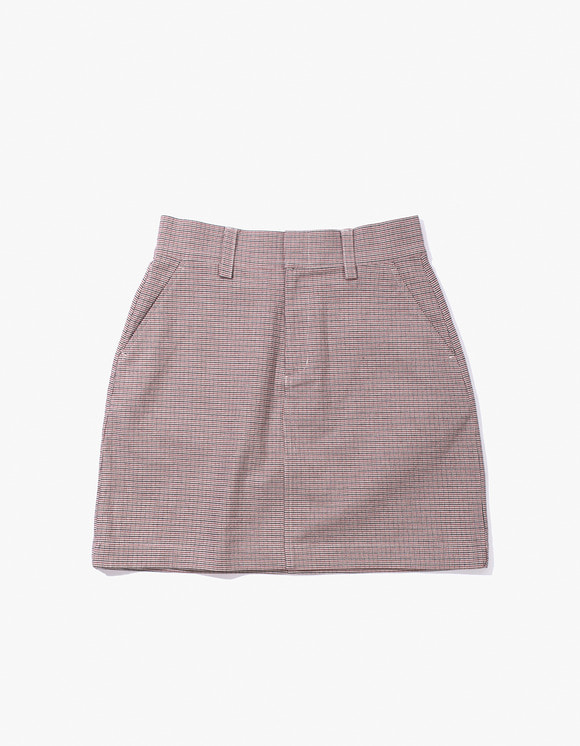 IZOLA NYC Check Miniskirt - Red | HEIGHTS. | 하이츠 온라인 스토어