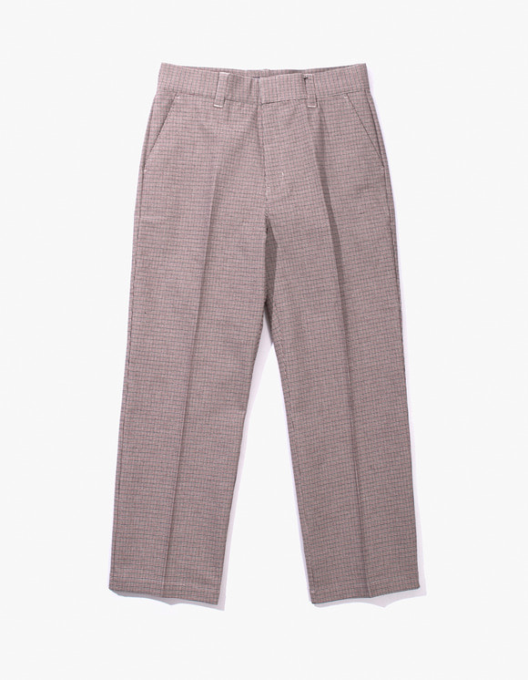 IZOLA NYC Check Buckel Trousers - Red | HEIGHTS. | 하이츠 온라인 스토어
