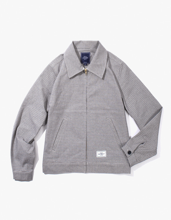 IZOLA NYC Check Zip-up Jacket - Blue | HEIGHTS. | 하이츠 온라인 스토어