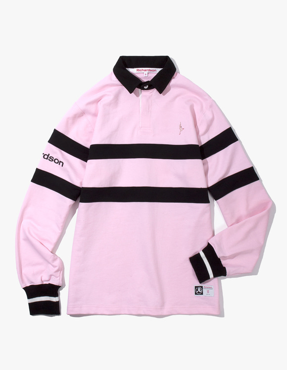 Richardson Rugby Long Sleeve - Pink | HEIGHTS. | 하이츠 온라인 스토어