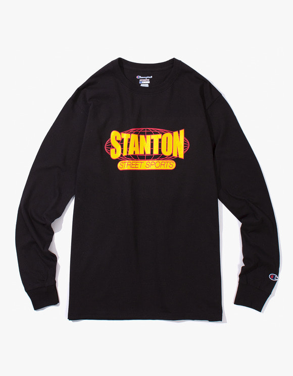 Stanton Street Sports Stanton International Champion® L/S T-Shirt - Black | HEIGHTS. | 하이츠 온라인 스토어