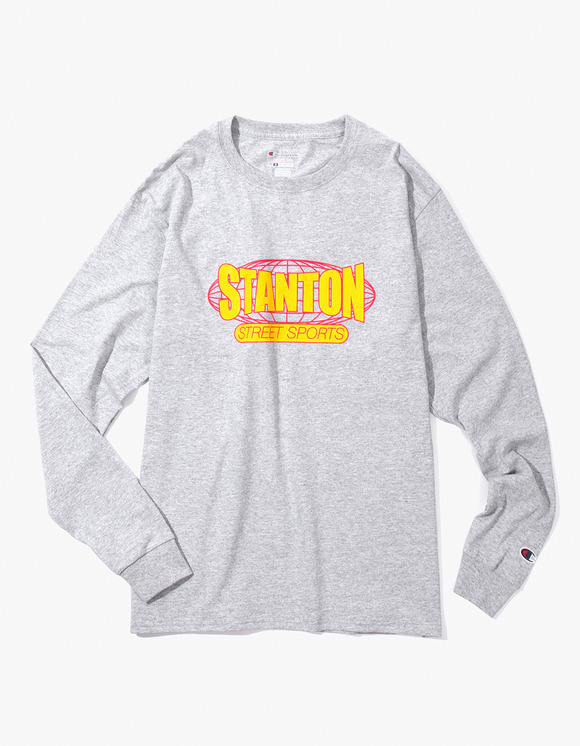 Stanton Street Sports Stanton International Champion® L/S T-Shirt - Ash | HEIGHTS. | 하이츠 온라인 스토어