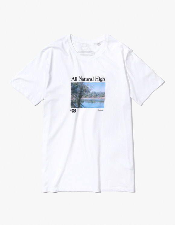 IDEA All Natural High T-Shirt LAKE - White | HEIGHTS. | 하이츠 온라인 스토어