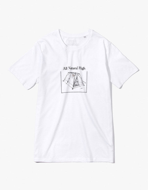 IDEA All Natural High T-Shirt TENT - White | HEIGHTS. | 하이츠 온라인 스토어