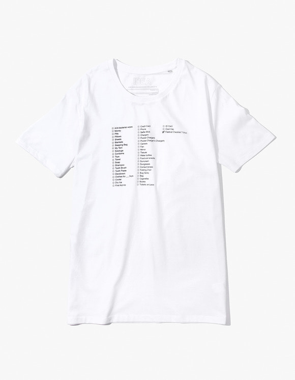 IDEA Festival T-Shirt PACKING LIST - White | HEIGHTS. | 하이츠 온라인 스토어