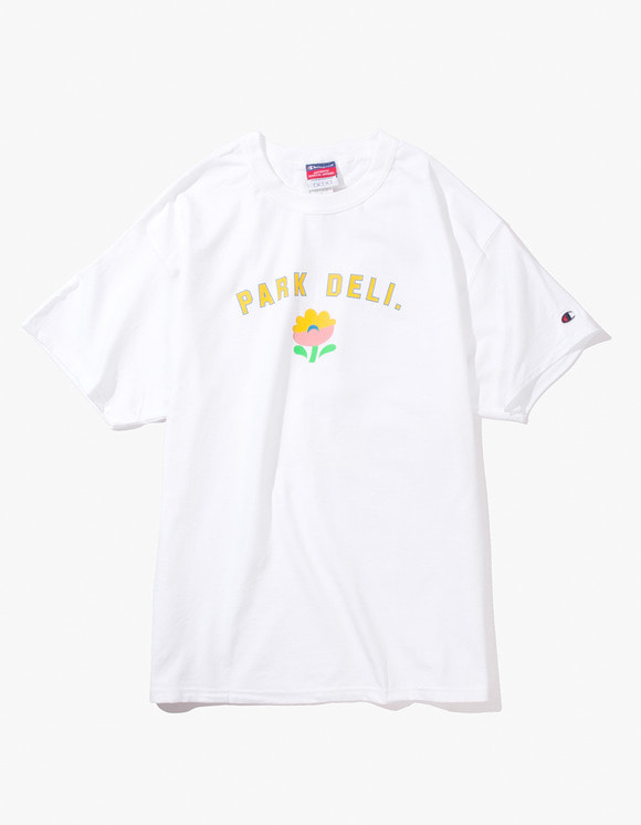 PARK DELI College S/S Tee - White | HEIGHTS. | 하이츠 온라인 스토어