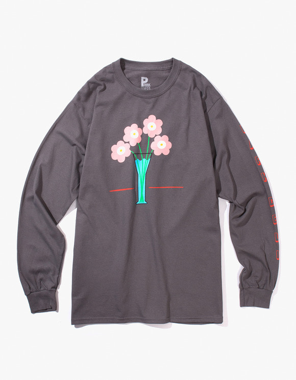 PARK DELI Flower Care L/S Tee - Charcoal | HEIGHTS. | 하이츠 온라인 스토어