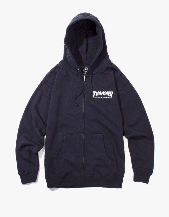 Thrasher THRASHER Logo Zip Hood - Navy | HEIGHTS. | 하이츠 온라인 스토어