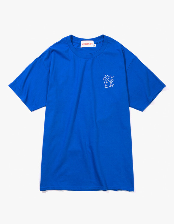 Victoria Hong Kong Queen Head Tee - Royal Blue | HEIGHTS. | 하이츠 온라인 스토어
